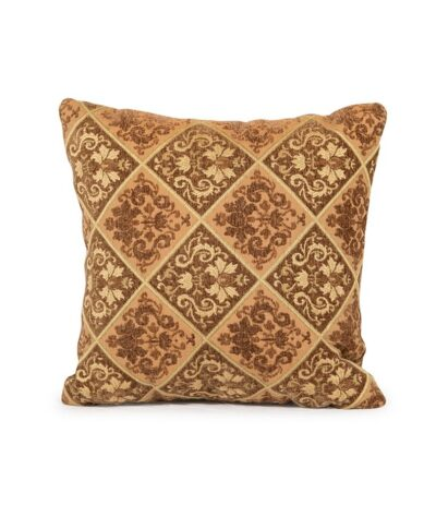 Brown and Gold Texture Pillow