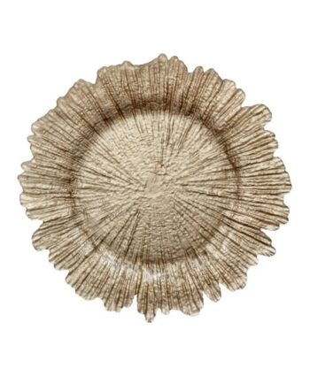 Champagne Sea Sponge Glass Charger