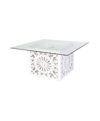 Geo Glass Top Table