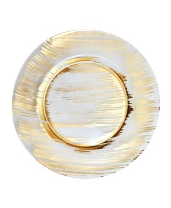 Gold Painted Glass Charger