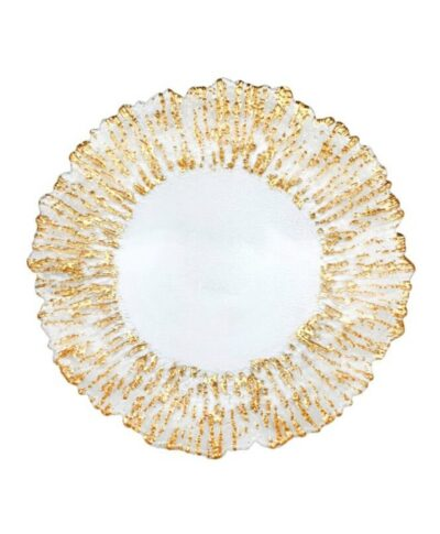 Gold Sea Glass Charger