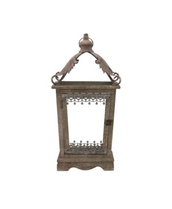 Antique Green Wood Lantern