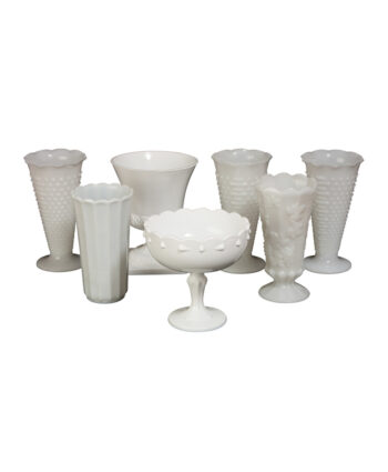 Large Milk Glass Vases