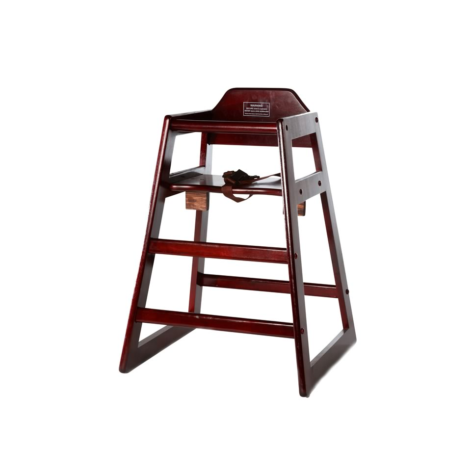 Mahogany Wood Baby High Chair Event Rentals Online