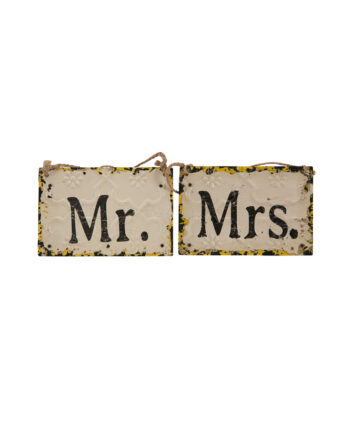 Mr And Mrs Rustic Sign