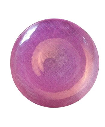 Purple Glitz Glass Charger