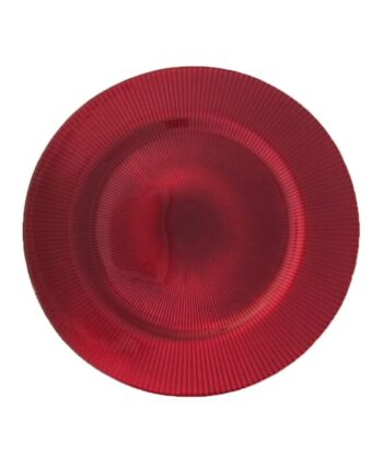 Red Radiance Glass Charger