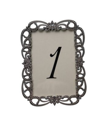 Risque Silver Table Number