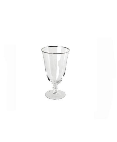 Silver Rim Water Goblet