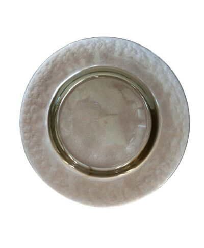 Taupe Glass Charger