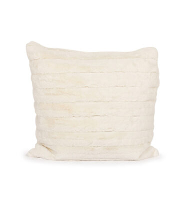 White Faux Fur Pillow