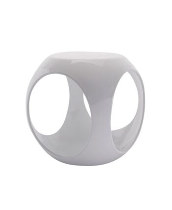 White Rio End Table