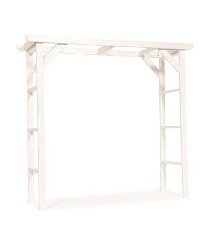 Simple White Wood Wedding Arch