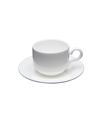 White China Demitasse Cup & Saucer