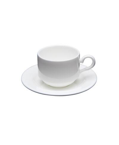 White China Demitasse Cup & Saucer