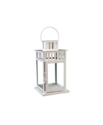 White Square Metal Lantern