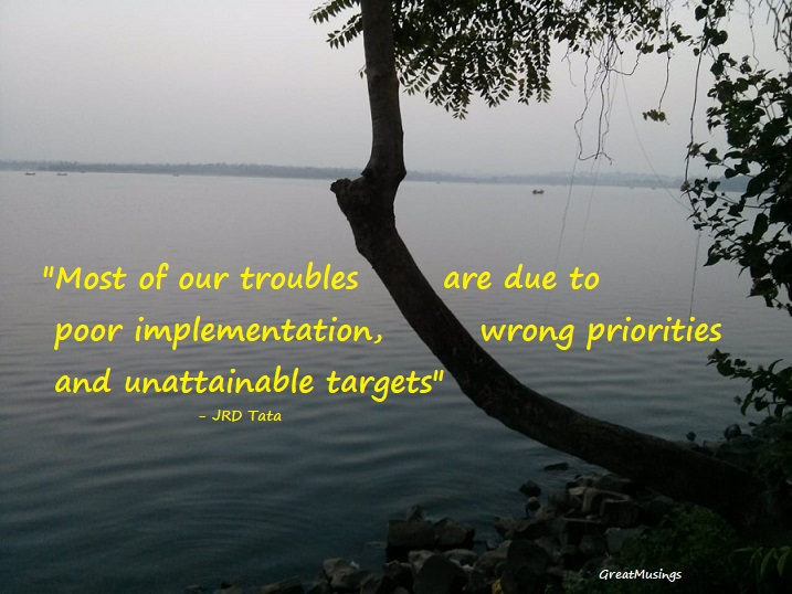 JRD Tata on Troubles