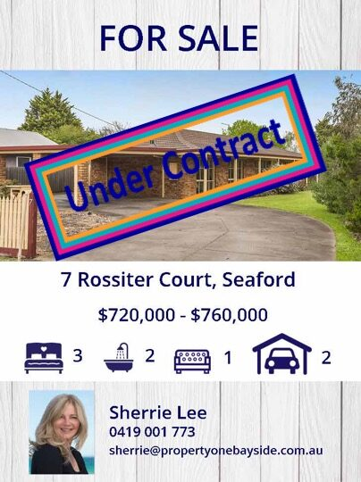 Rossiter St under Contract to be sold
