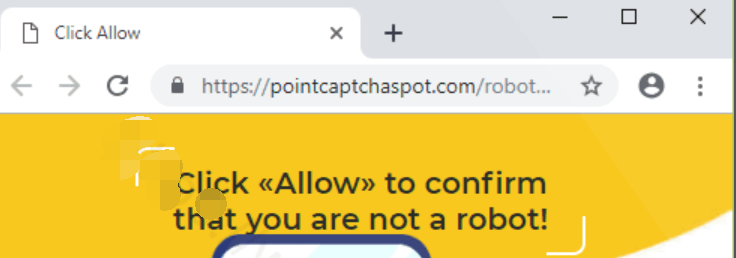 Pointcaptchaspot.com Notifications Virus