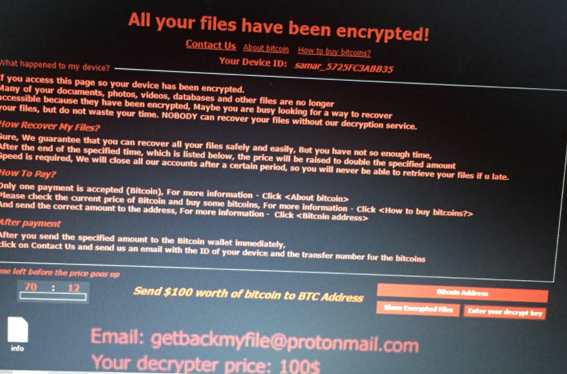 getbackmyfile@protonmail.com Virus