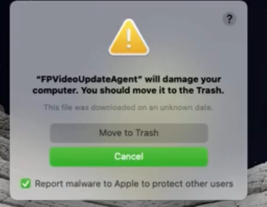 FPVideoUpdateAgent will damage your computer