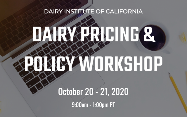 DAIRY PRICING & POLICY WORKSHOP