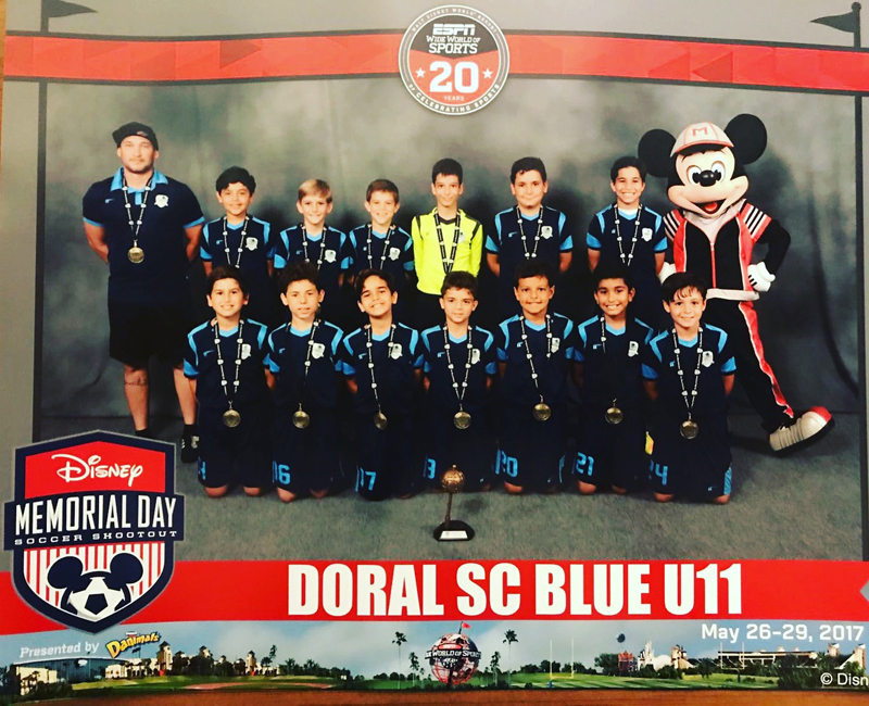 U11 Blue Finalist Disney Memorial Day 2017