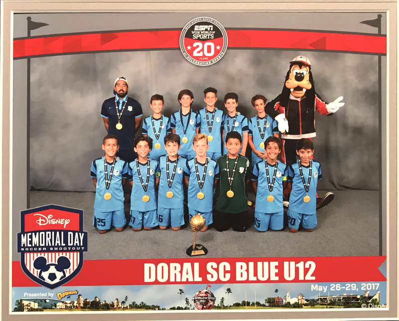 U12 Blue Champion Disney Memorial Day 2017