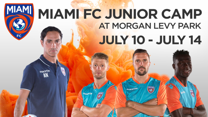 Miami FC Junior Camp Announced in Partnership with Doral Soccer Club and Italian Soccer Academy