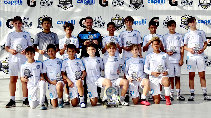 U14 Premier Coach Antonello Paradiso Finalist United Soccer Cup & Showcase March 7 – 8, 2020