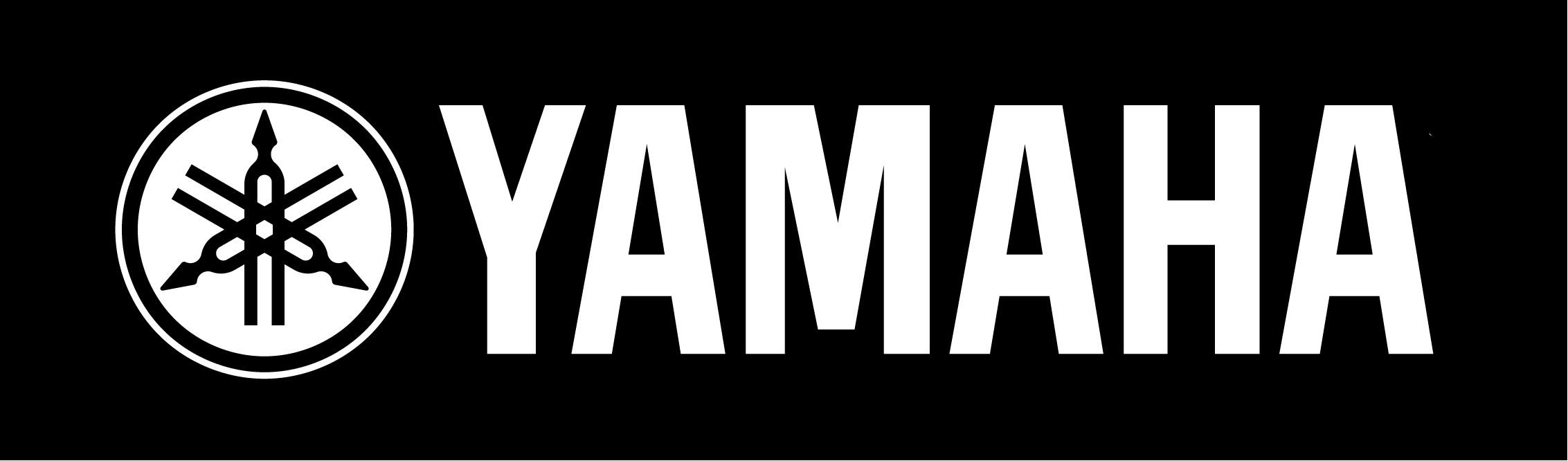 Yamaha Logo (White on Black) Hi Res