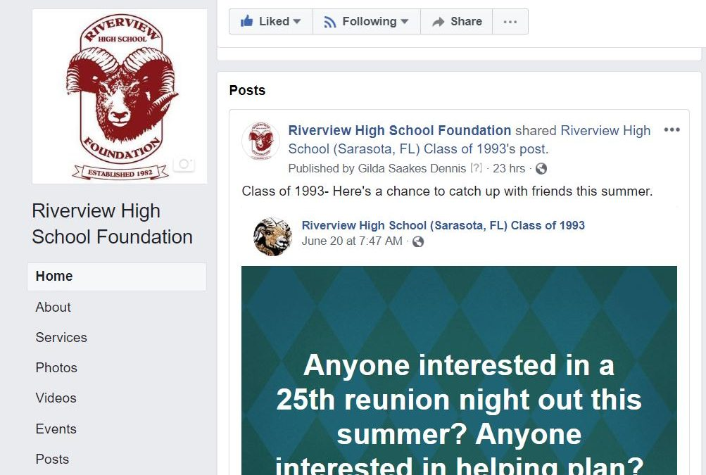 Check Out the RHSF Facebook Page