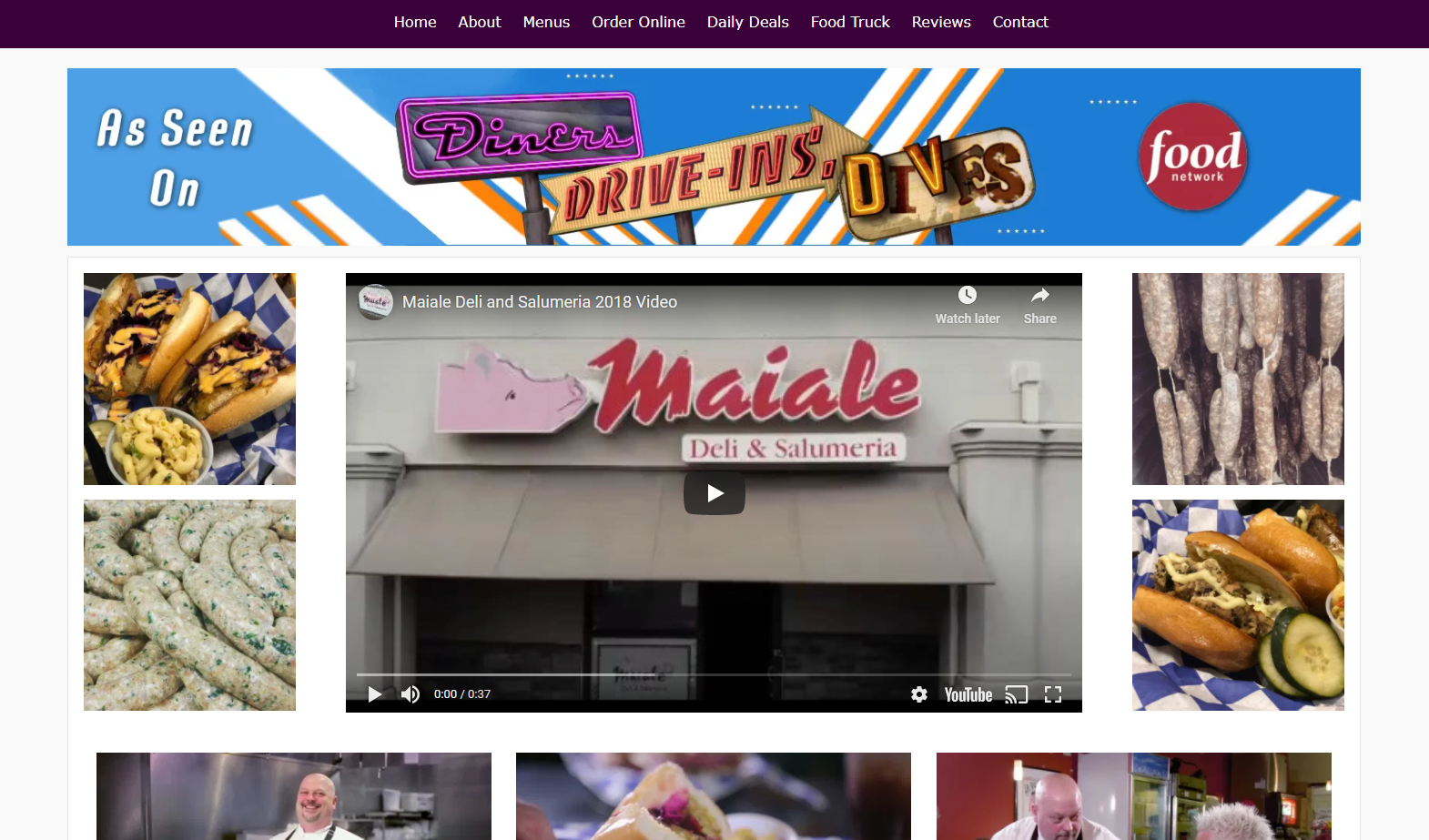 Diners Drive In and Dives Maiale Deli