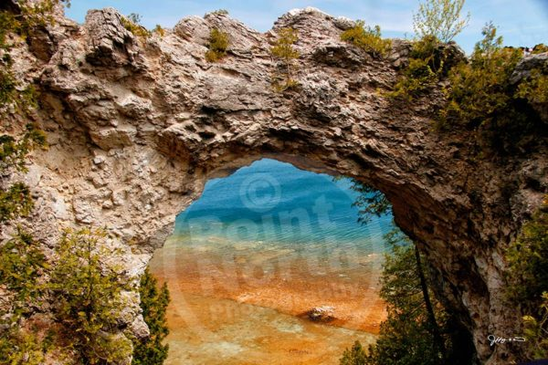 Point North Photography-MACKINAC ARCH LOCATED ON MACKINAC ISLAND