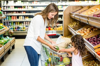 grocery shopping, healthy food, healthy eating