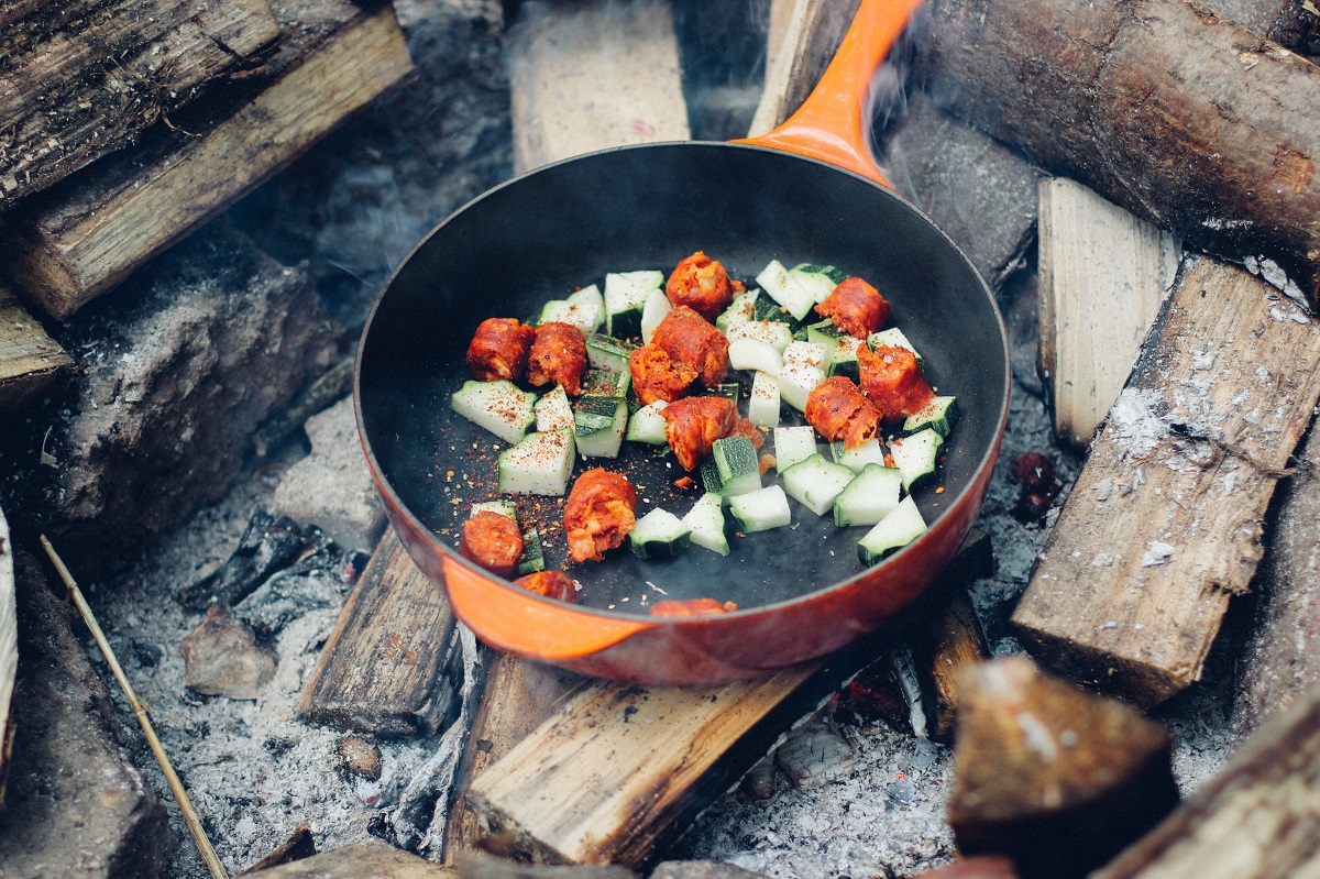 camping meals, campfire cooking, castiron skillet meals, cooking while camping, outdoor meals, physical therapy mankato