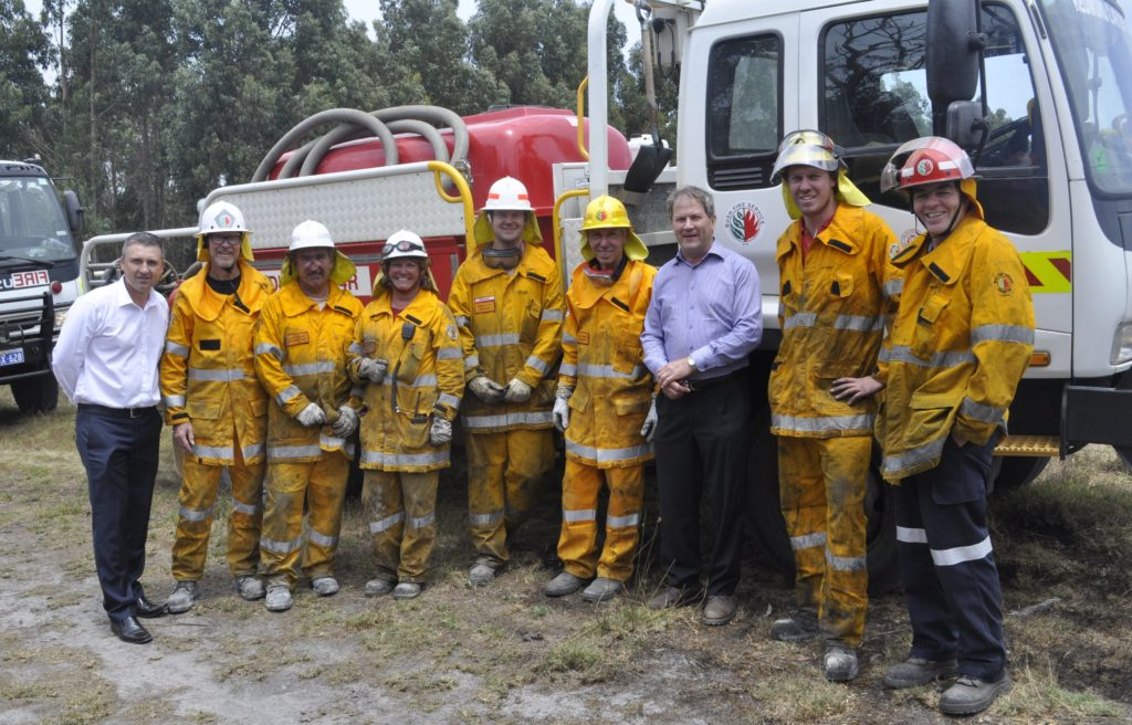 Some of Albany Shire's Bush Fire Volunteers with Council representatives.