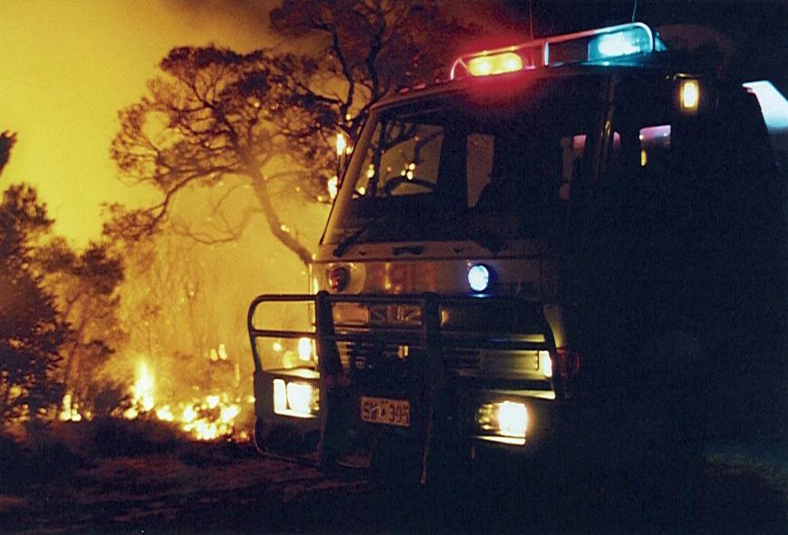 The West Swan Volunteer Bush Fire Brigade in action