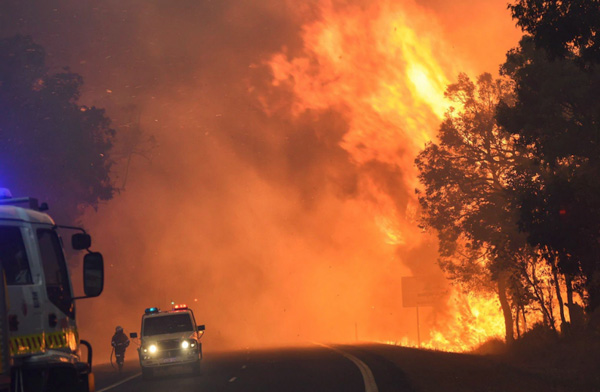 Waroona and Harvey bushfire images supplied by DFES - Yarloop