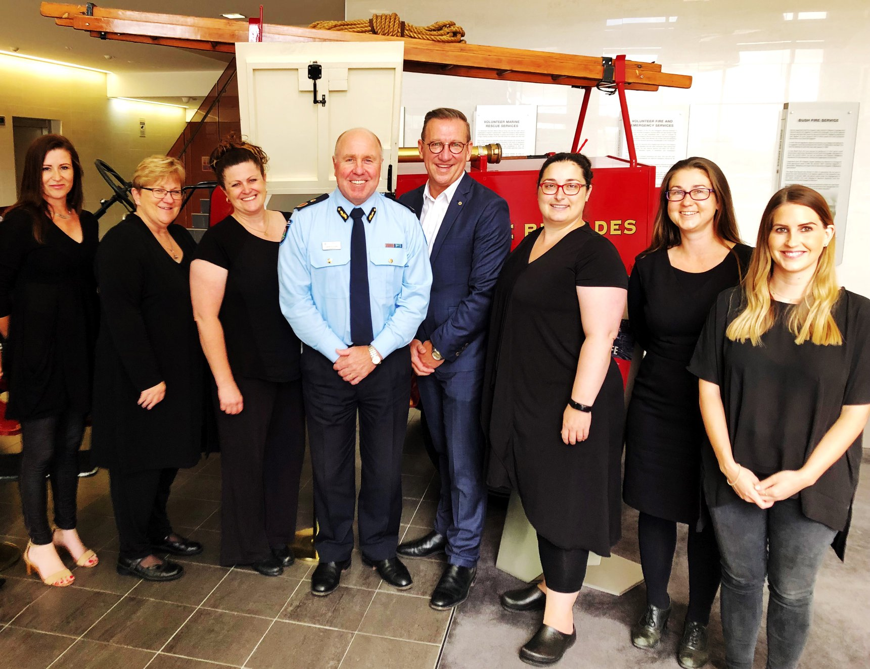 FES Commissioner Darren Klemm welcomed WA Deaf Society CEO David Gibson and the newly established Emergency Services Interpreter Team. Photo: Facebook
