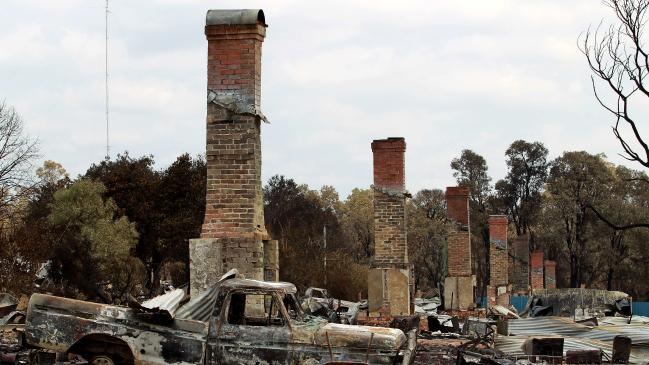 Yarloop after the bushfire. Picture: Colin Murty The Australian