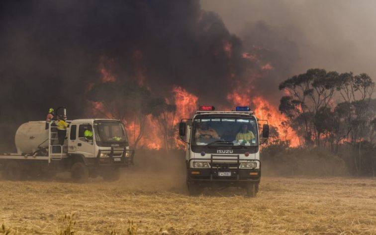 In November of 2015 bushfires devastated massive areas of the Esperance region, taking the lives of four people. Photo: Supplied.