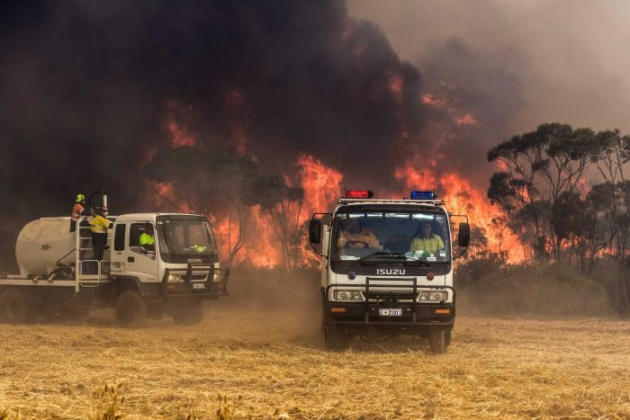 PHOTO: The creation of a rural fire service was recommended in a scathing review in mid-2016. (Supplied: Department of Fire and Emergency Services)