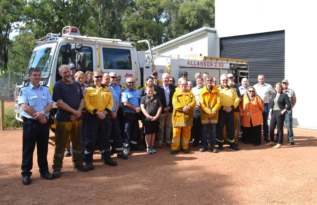 Emergency Services minister Francis Logan visited the Allanson Fire Brigade meeting on Sunday.