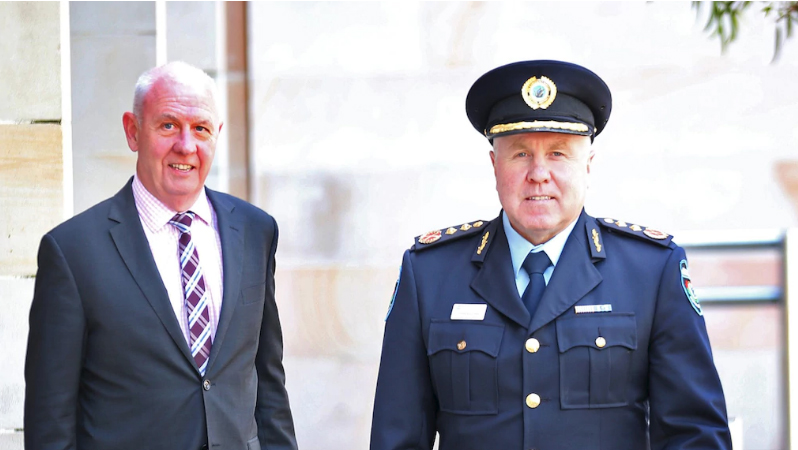 Emergency Services Minister Fran Logan and Fire & Emergency services Commissioner Darren Klemm .Picture: The West Australian, Sharon Smith The West Australian