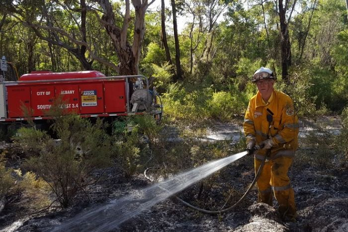 Volunteer firefighter Dave Wettenhall says this is the busiest he has been in his 20-year career. Photo: ABC