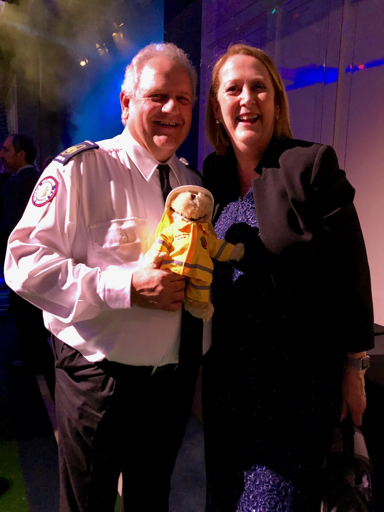 Police Minister Michelle Roberts and AVBFB President Dave Gossage