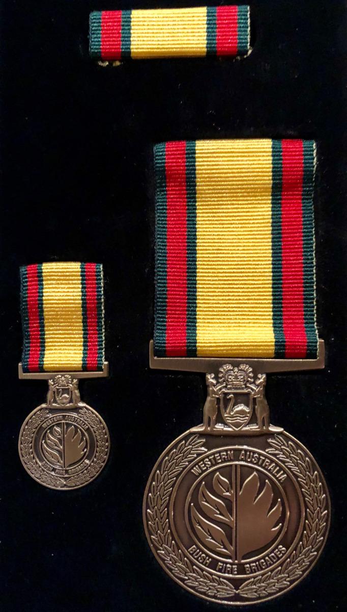 The new WA Volunteer Bush Fire Service Medals