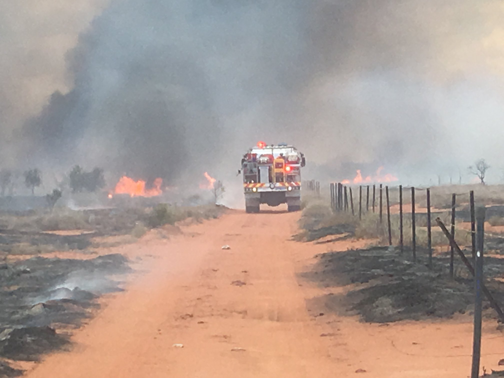 Volunteer firefighters and families busy in the north too