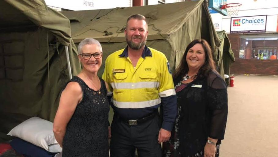 Shire of Esperance president Victoria Brown, DFES state operations and logistics manager Lyndon Jackson and deputy Shire president Natalie Bowman.Picture: Supplied